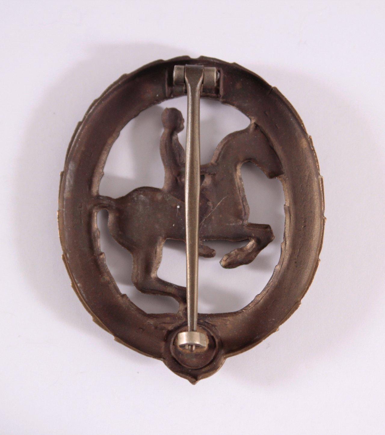 Deutsches Reiterabzeichen in Bronze-1