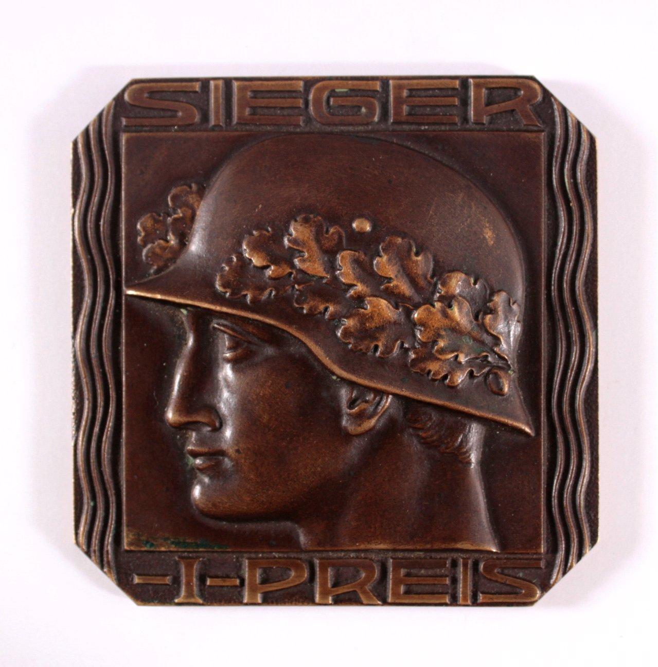 Bronzeplakette 1. Preis von 1920