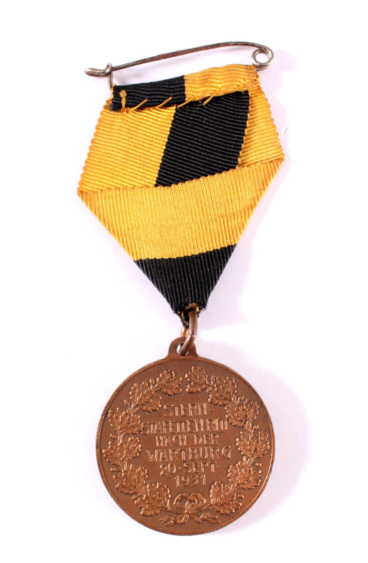 Medaille Stern Staffetten Ritt, Eisenach 1931-1