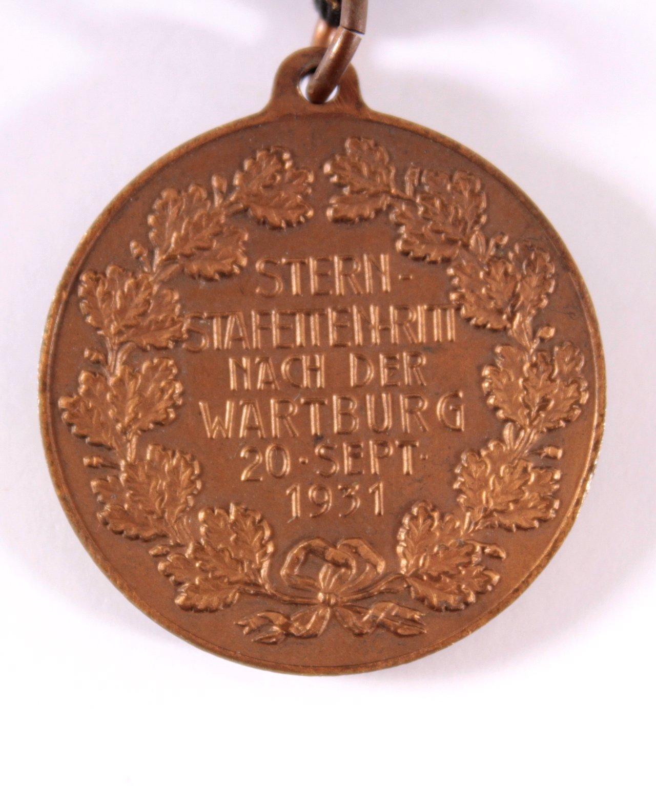 Medaille Stern Staffetten Ritt, Eisenach 1931-2