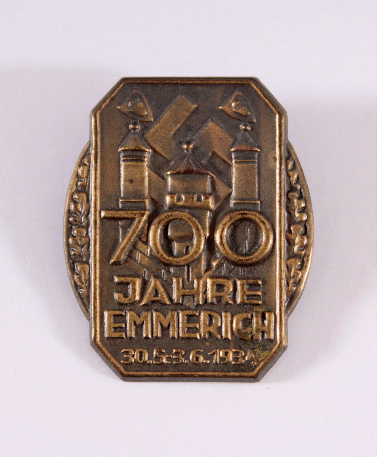 Abzeichen 700 Jahre Emmerich