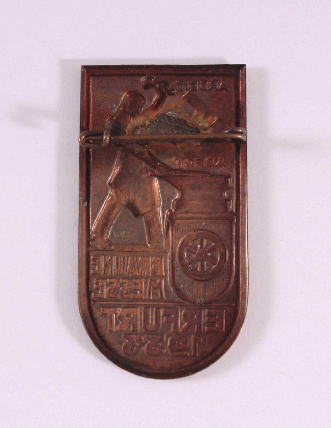 Abzeichen Braune Messe Erfurt 1933-1