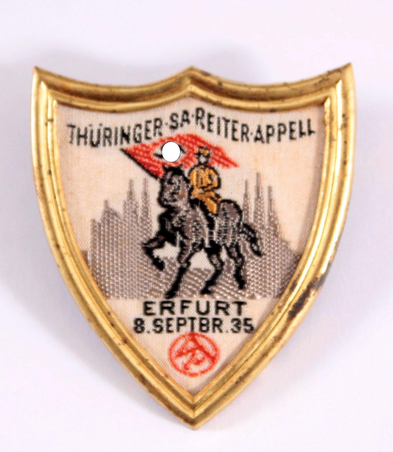 Abzeichen Thüringer SA Reiterappell, Erfurt 1935