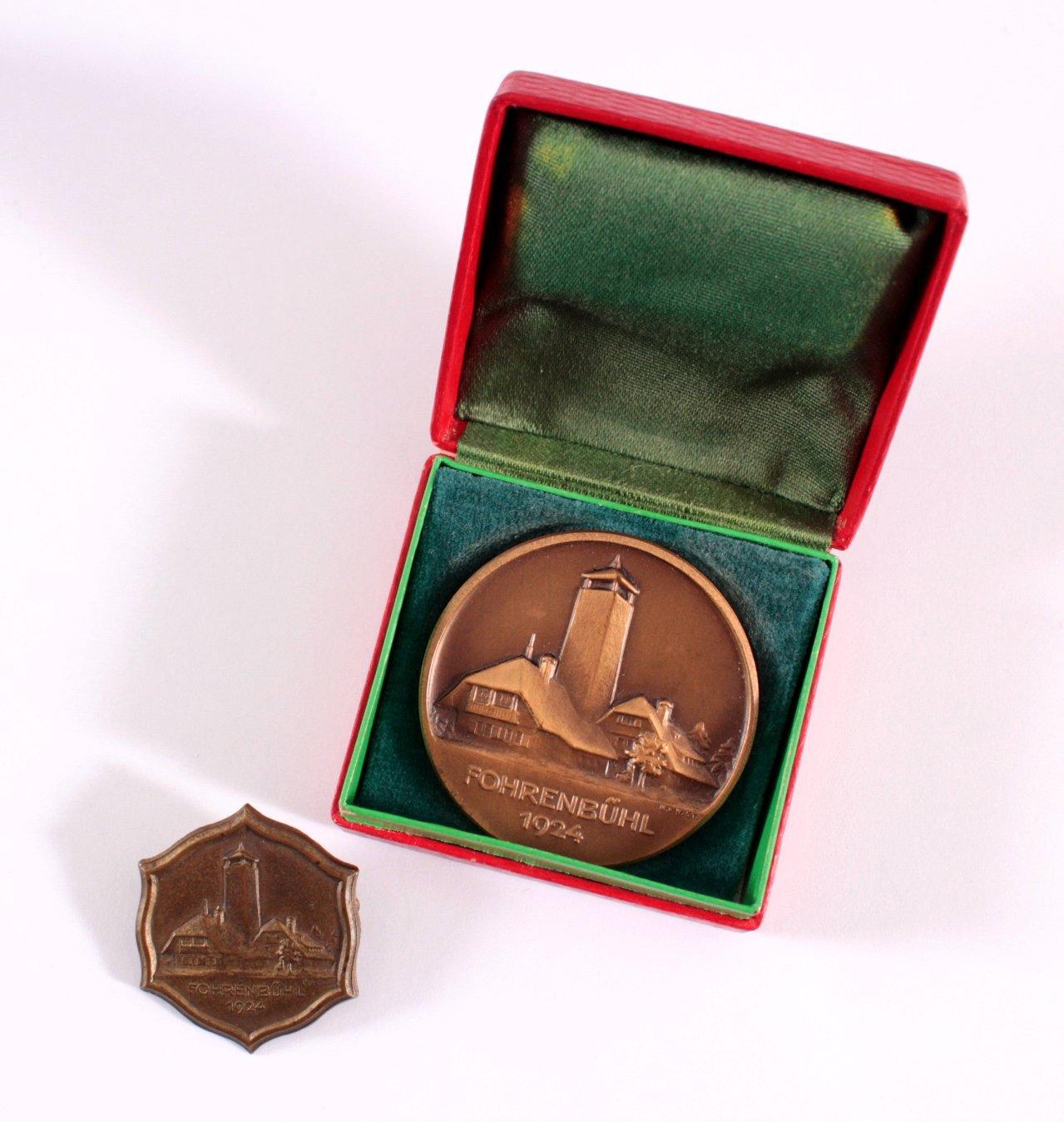 Veranstaltungsabzeichen und Medaille Fohrenbühl