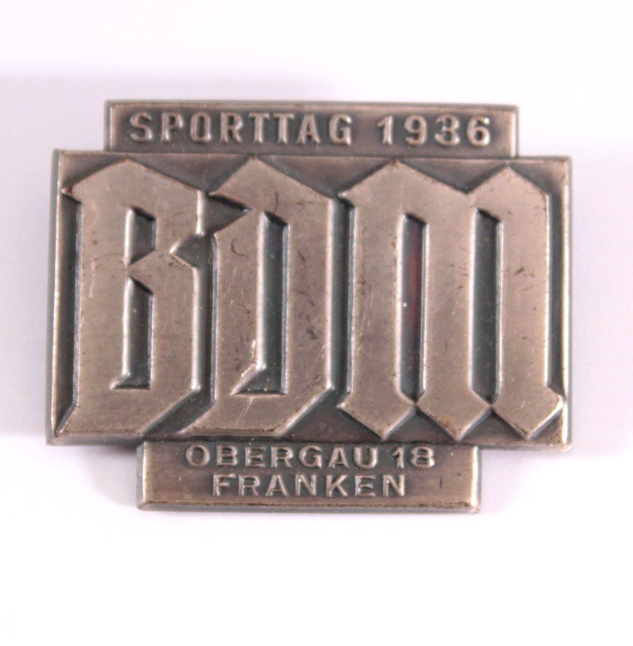 Abzeichen BDM Sporttag 1936, Obergau 18 Franken