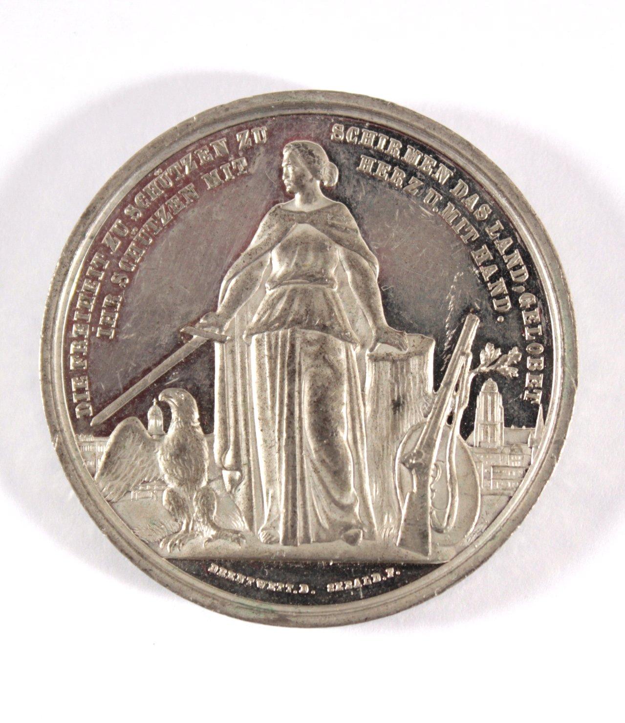 Medaille Frankfurt am Main, Schützenfest 1862