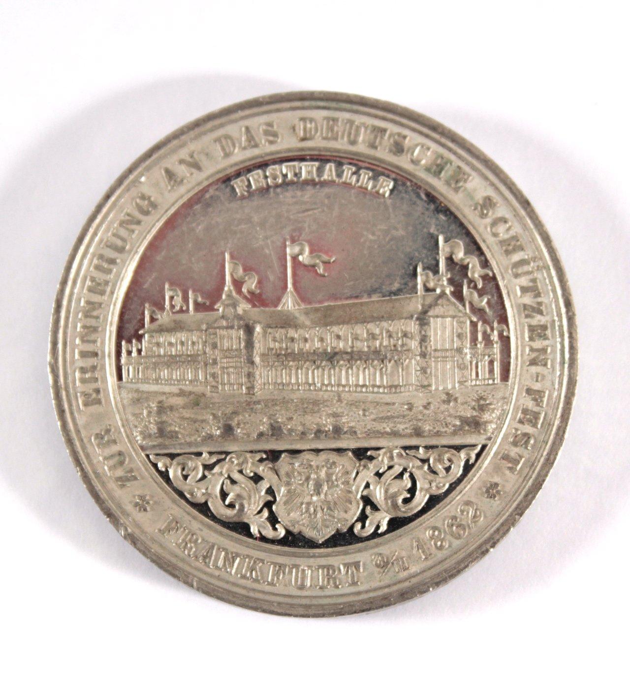 Medaille Frankfurt am Main, Schützenfest 1862-1