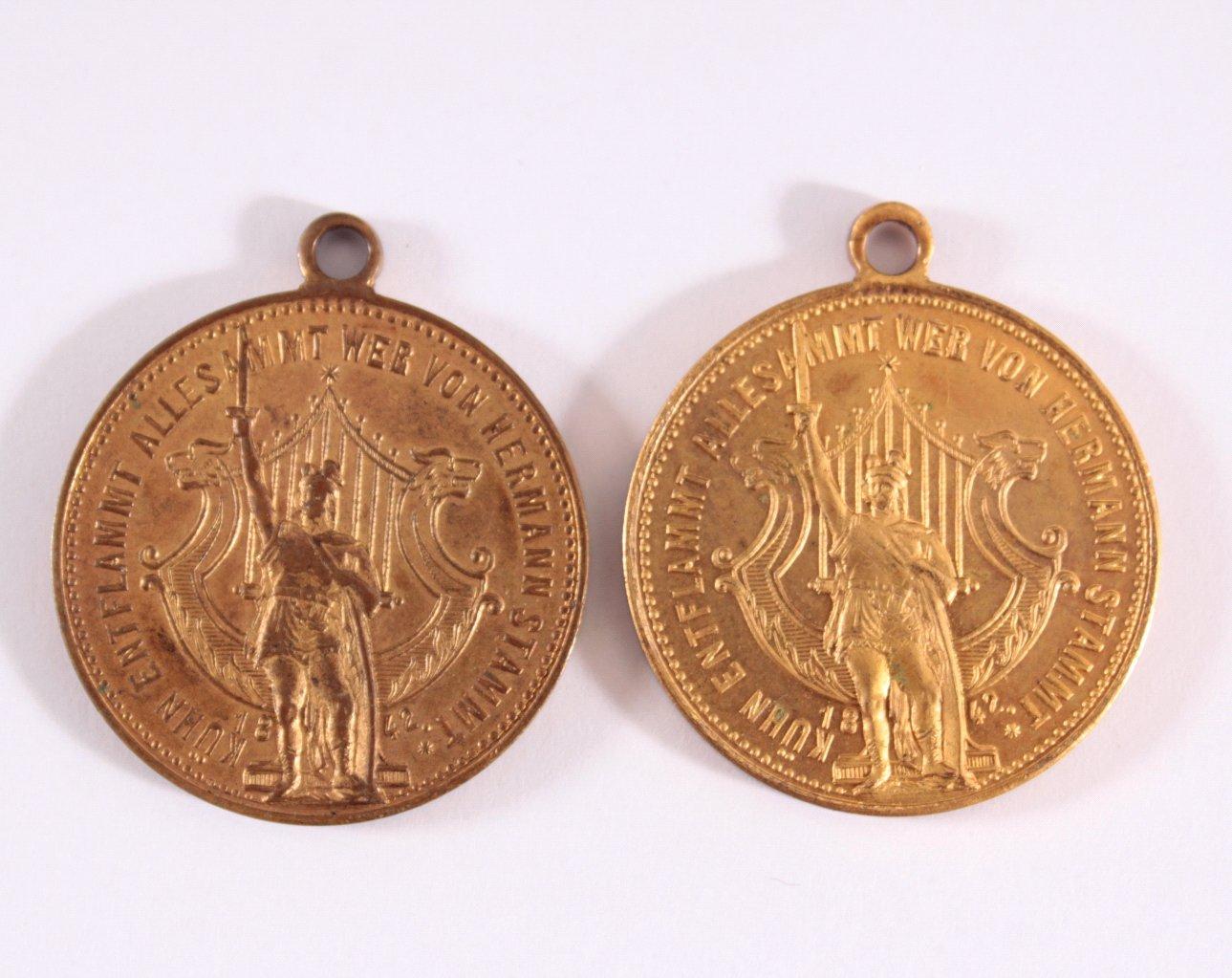 2 Medaillen 50 jährigen Feier, Herrmanns Verein, Frankfurt