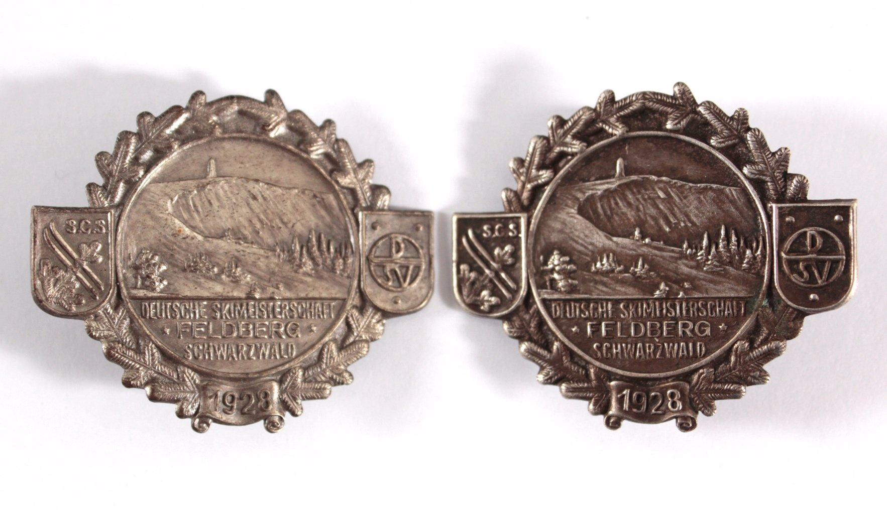 2 Abzeichen Deutsche Skimeisterschaft 1928, Feldberg