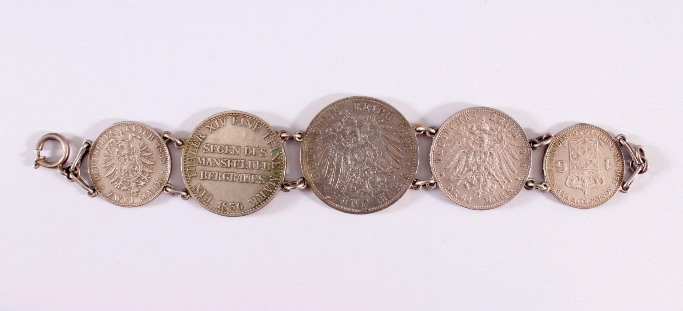 Münzarmband um 1900-1