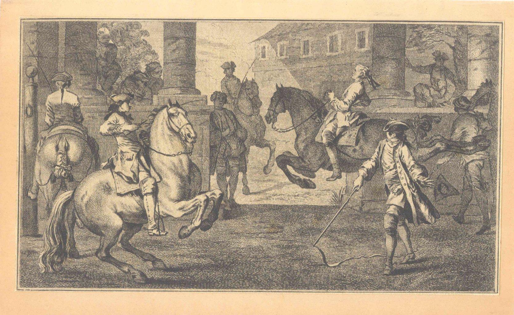 Pferde – Kupferstich und 2 Punktierstiche-2