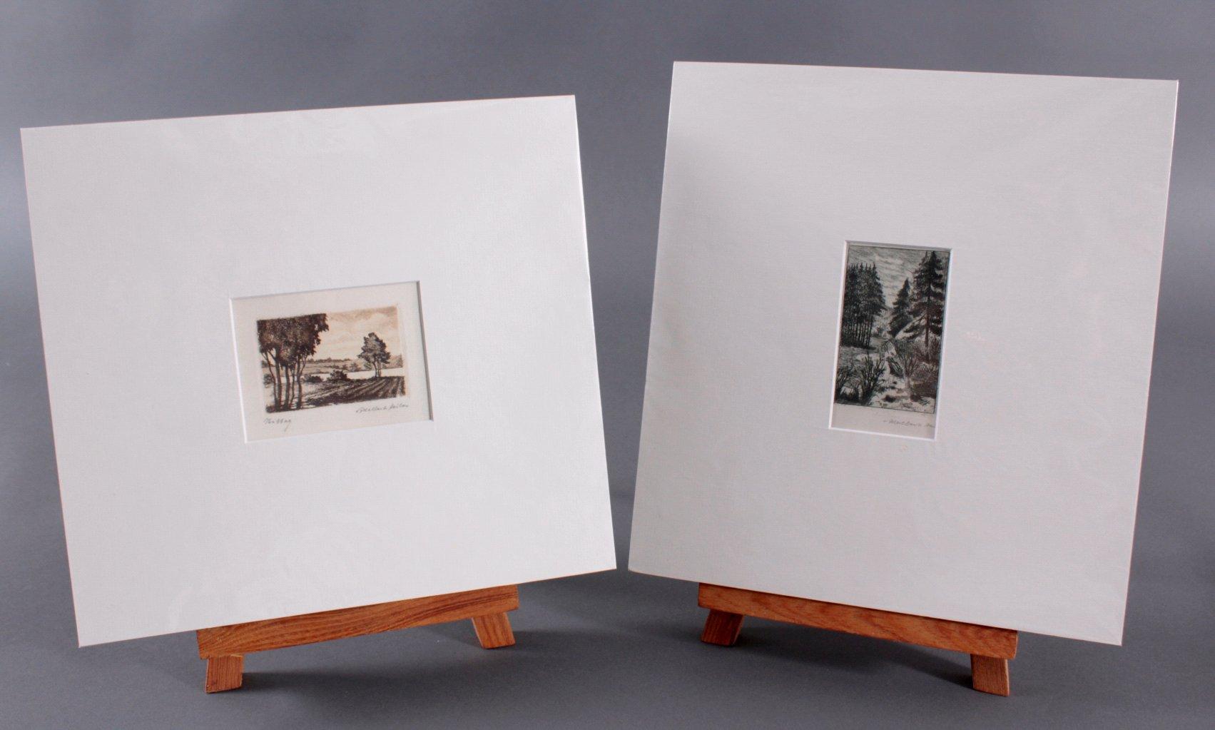 Adalbert Heiler (Mooskirch 1918-2007 München)- 2 Radierungen