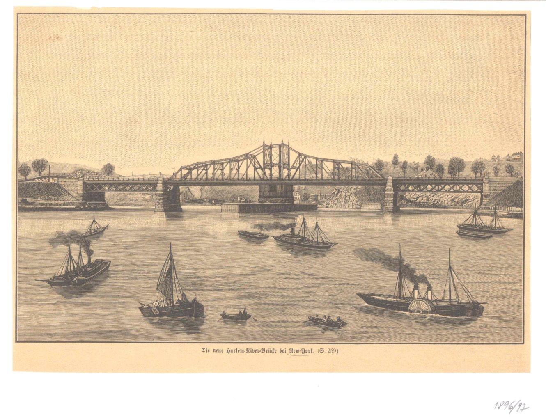 New York – 5 Holzstiche  um 1870-2