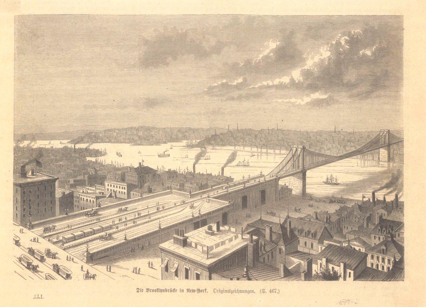 New York – 5 Holzstiche  um 1870-3