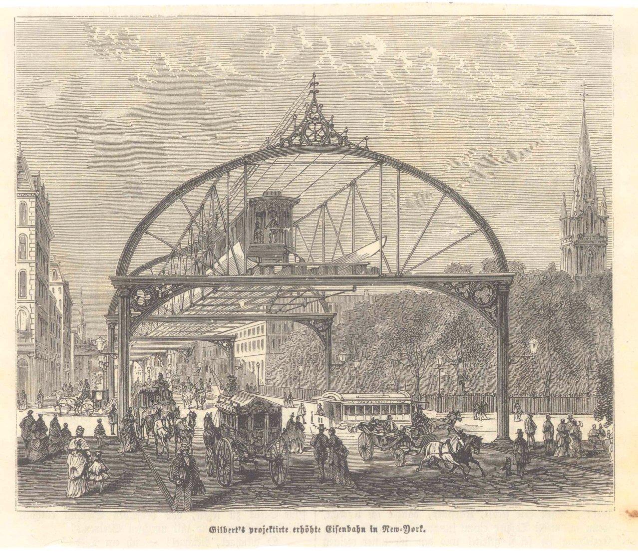 New York – 5 Holzstiche  um 1870-4