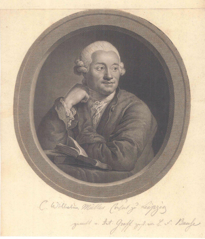 """Portrait: """"Carl Willhelm Müller"""" von Joh. Friedrich Bause"""