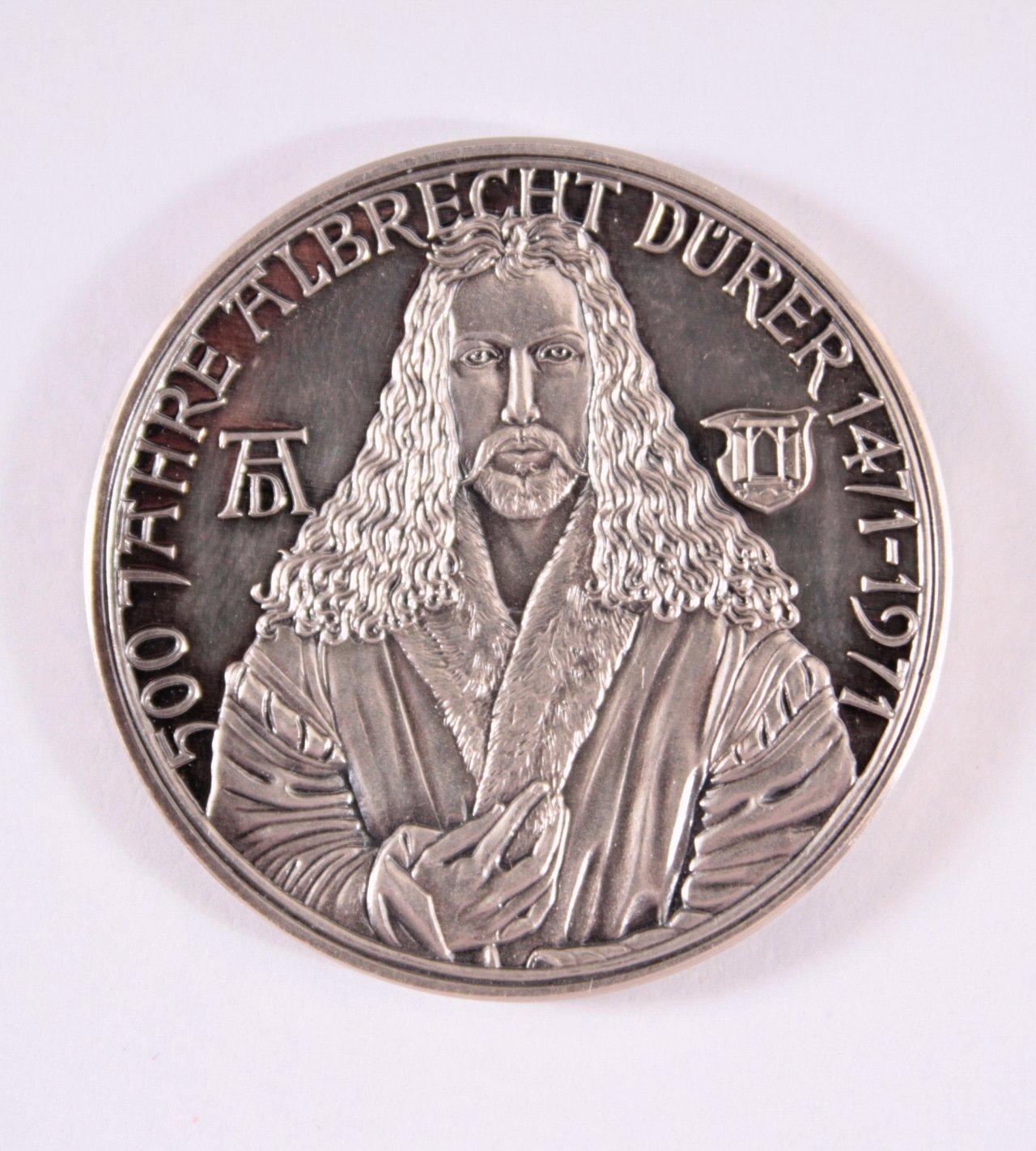 Silber Medaille 500 Jahre Albrecht Dürer, 1471-1971