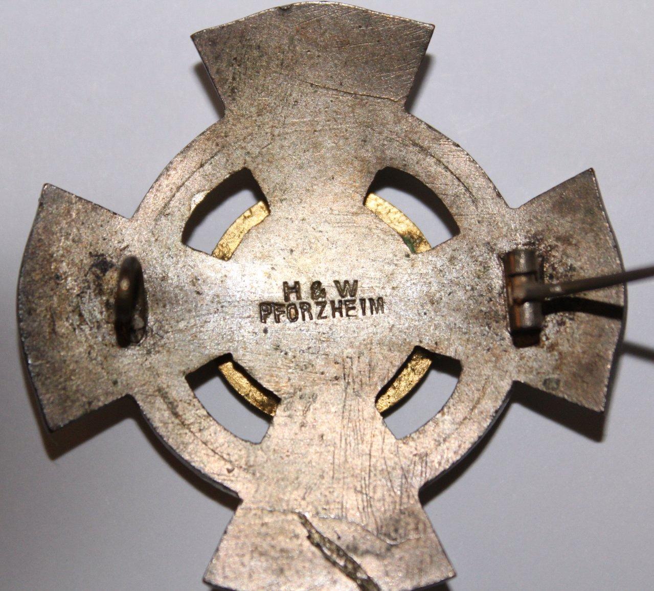 Abzeichen, Badischer Landesverein, Rotes Kreuz, 25 Jahre-2