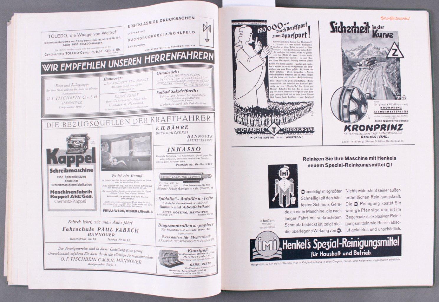 Echo Continental Jahrgang 1930-4