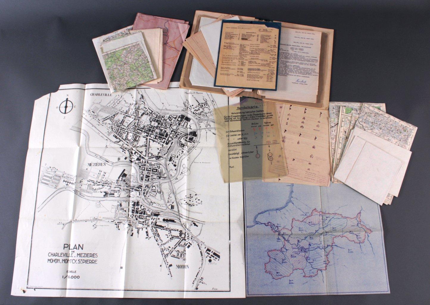Kartennachlass Brückenbaustab 1, Brückenbau-Bataillon 683