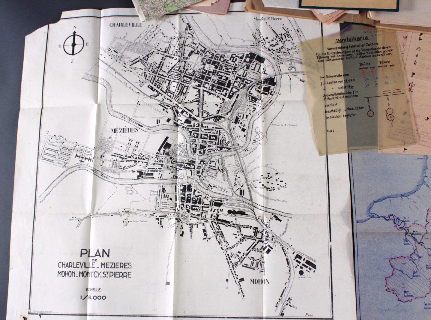 Kartennachlass Brückenbaustab 1, Brückenbau-Bataillon 683-1