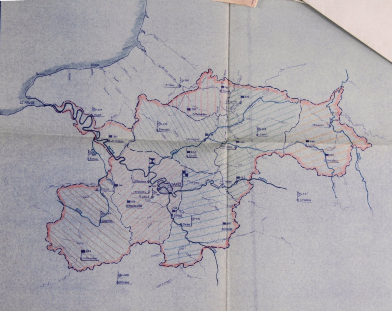Kartennachlass Brückenbaustab 1, Brückenbau-Bataillon 683-2