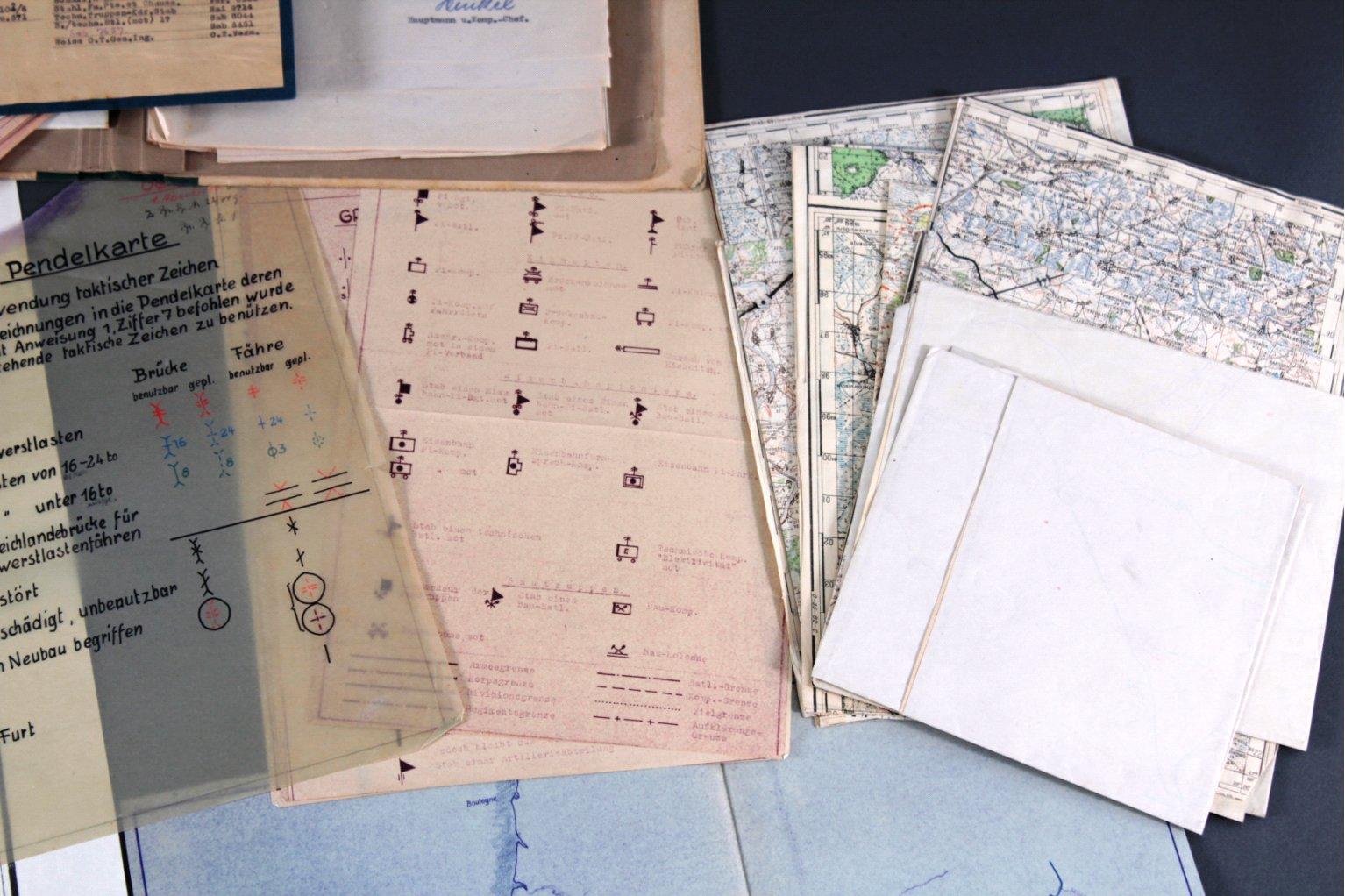 Kartennachlass Brückenbaustab 1, Brückenbau-Bataillon 683-3