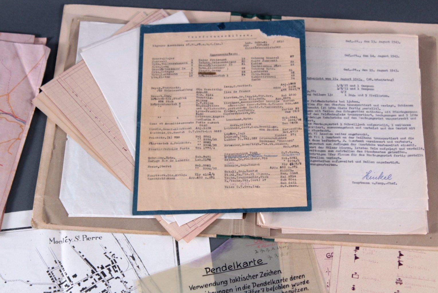 Kartennachlass Brückenbaustab 1, Brückenbau-Bataillon 683-4