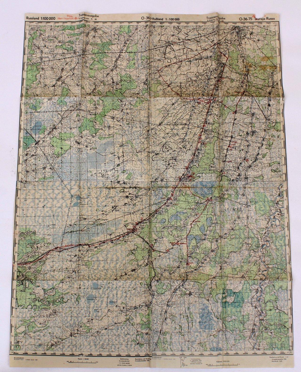 Kartennachlass Brückenbaustab 1, Brückenbau-Bataillon 683-5