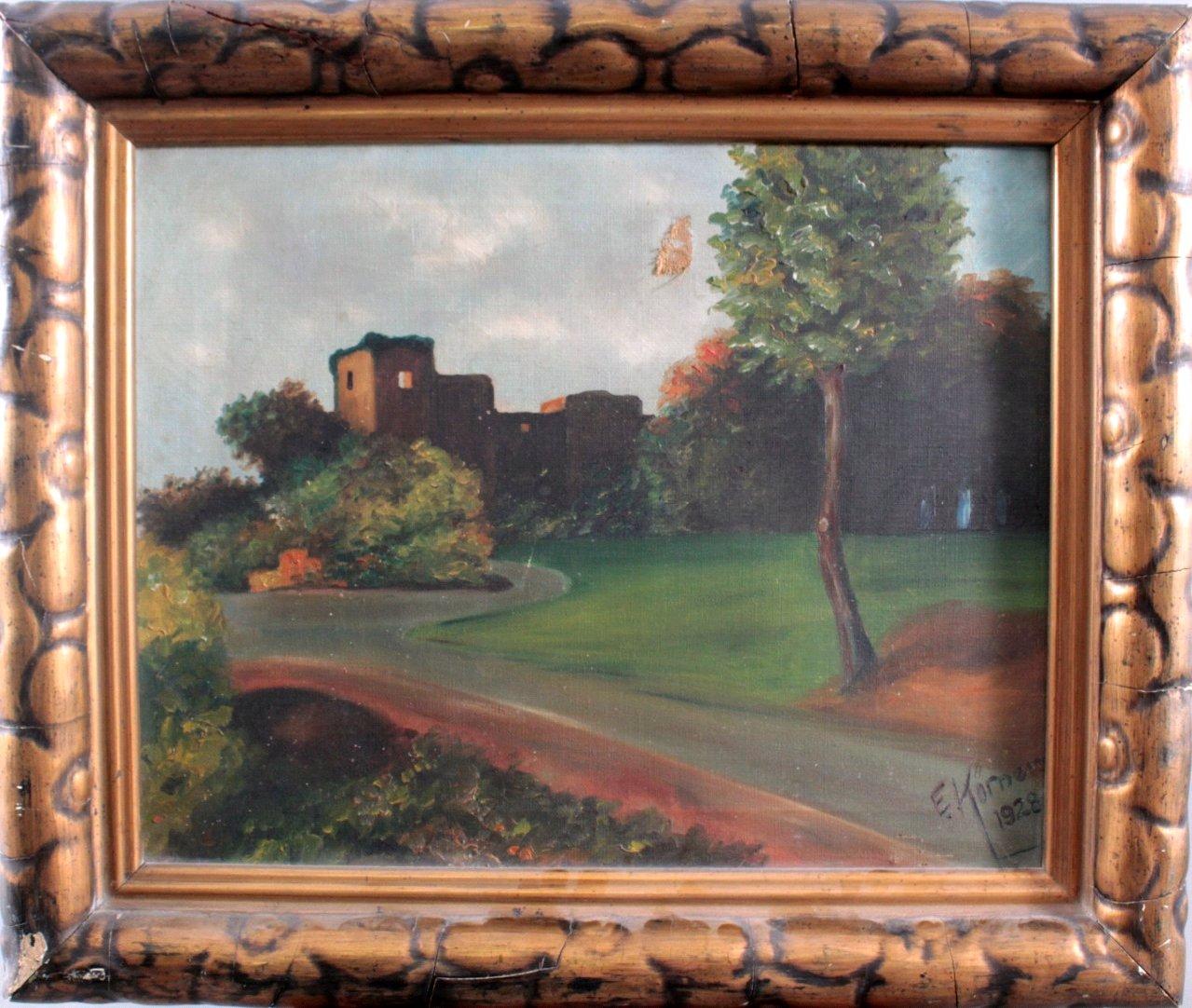 """Gemälde, """"Landschaft mit Ruinen"""""""