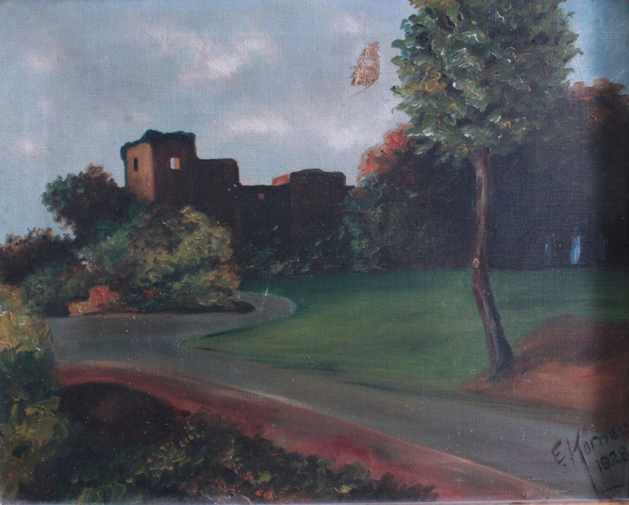 """Gemälde, """"Landschaft mit Ruinen""""-1"""