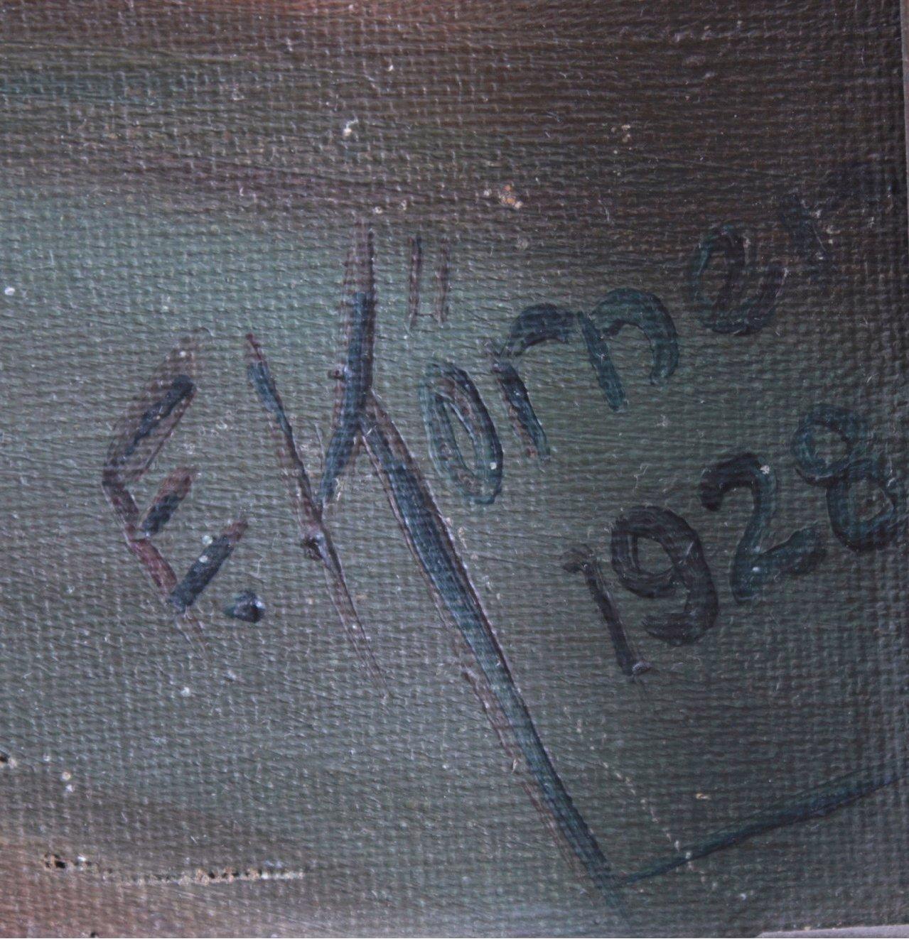 """Gemälde, """"Landschaft mit Ruinen""""-2"""