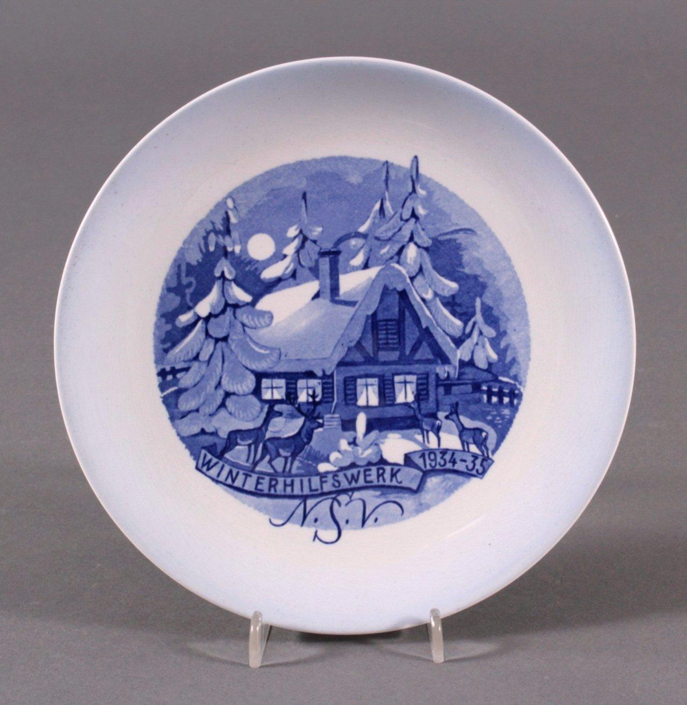 WHW Porzellan-Teller N.S.V, Winterhilfswerk 1934-35