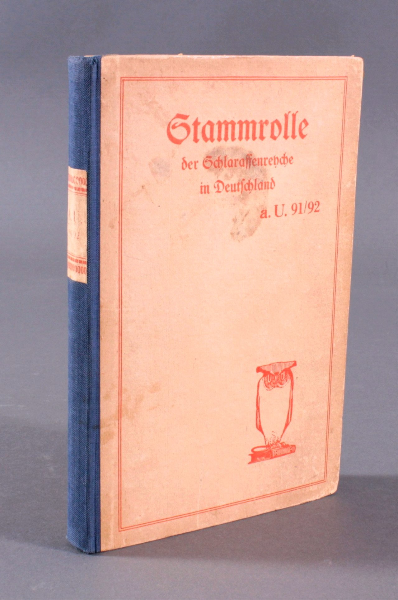 Stammrolle der Schlaraffenrenche in Deutschland a.U.91/92