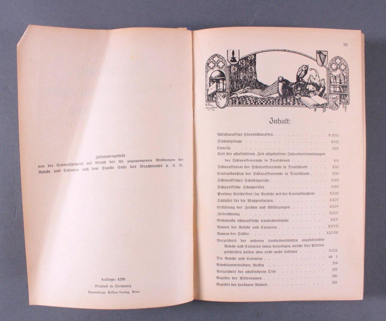 Stammrolle der Schlaraffenrenche in Deutschland a.U.91/92-2