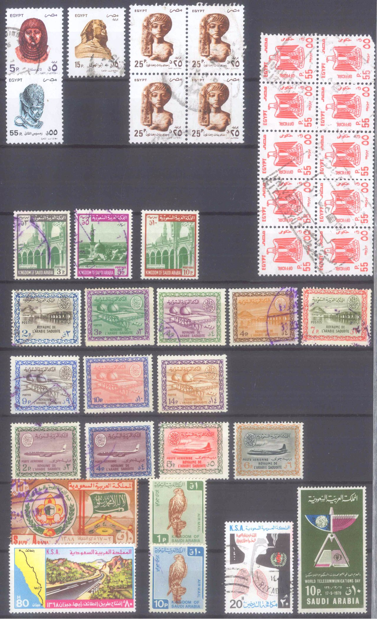 Briefmarkennachlass Alle Welt, dabei auch China-21