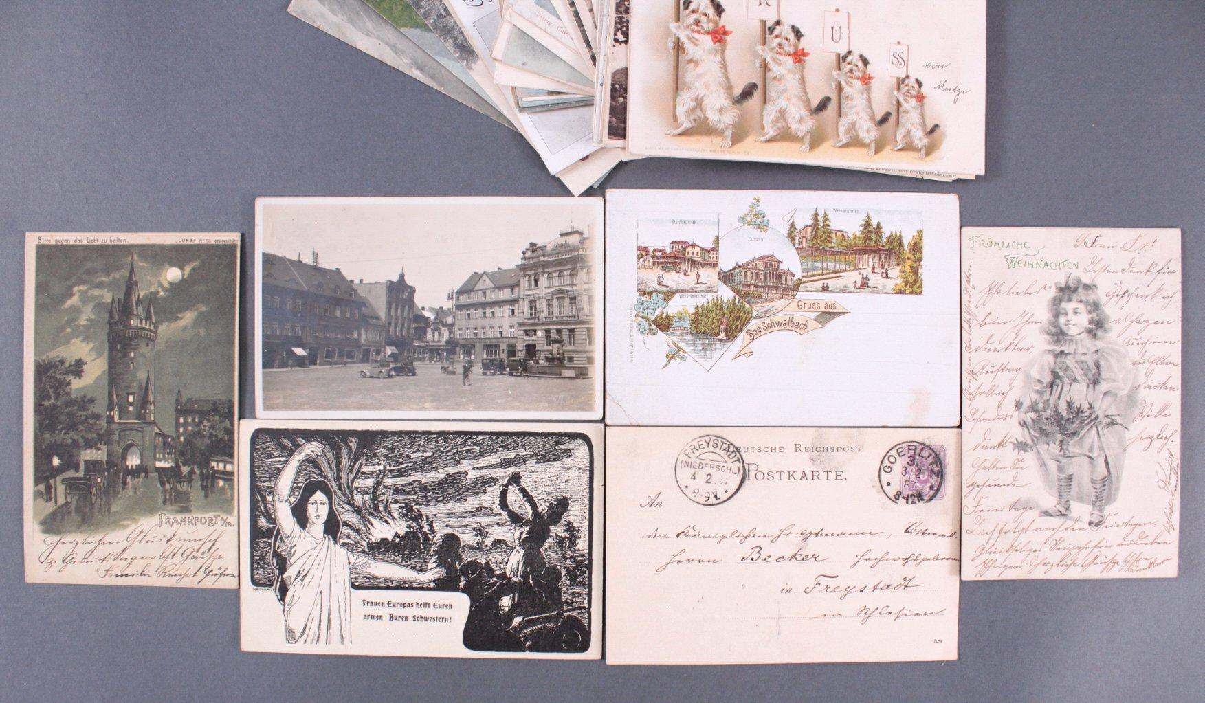 Konvolut Postkarten um 1900, Deutsches Reich-1