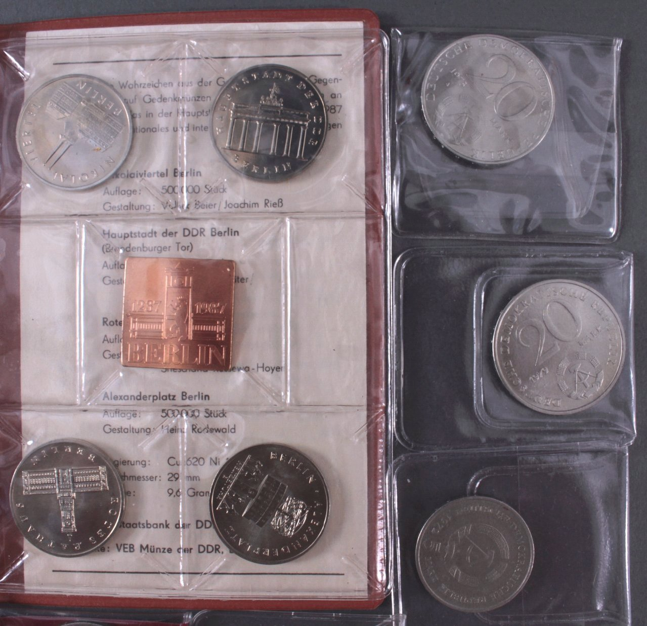 Konvolut Münzen DDR-1