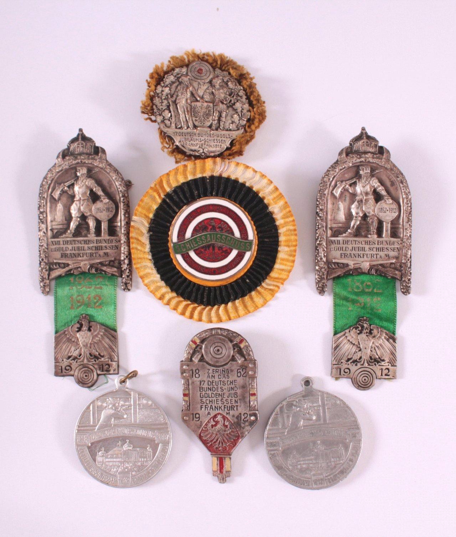 4 Abzeichen 17. Deutsches Bundesschiessen 1912