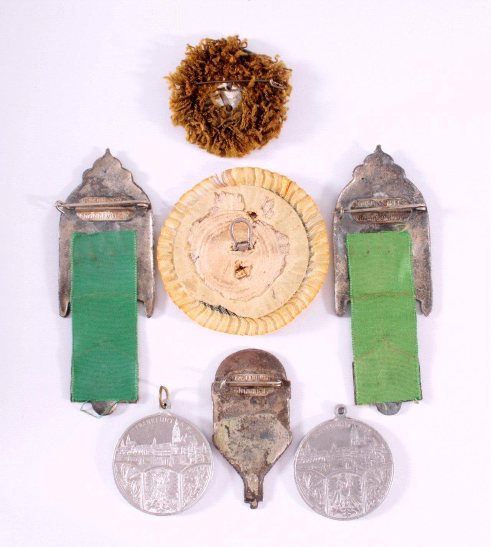 4 Abzeichen 17. Deutsches Bundesschiessen 1912-1