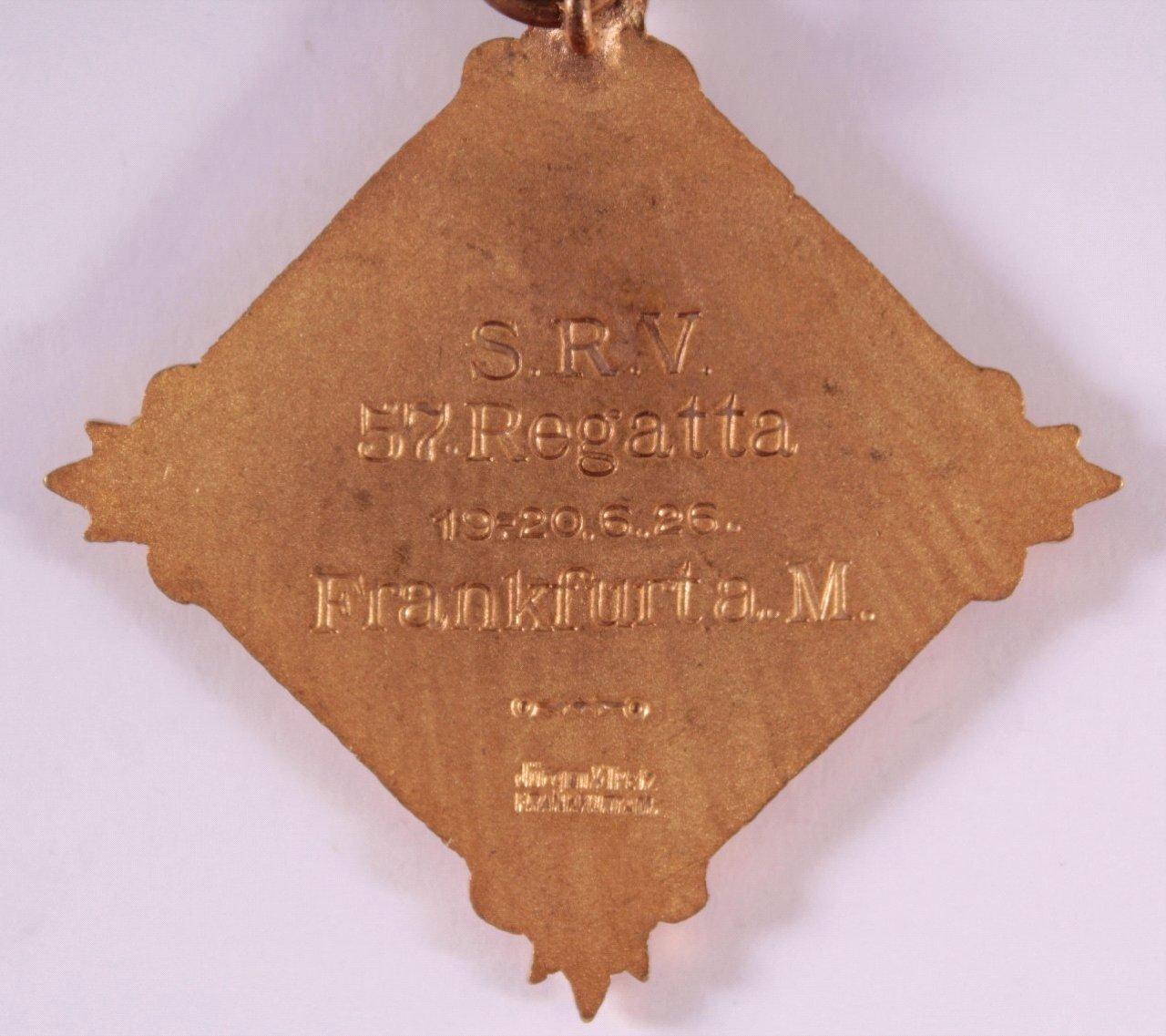 Abzeichen Süddeutscher Ruderverband Frankfurt 1913-2