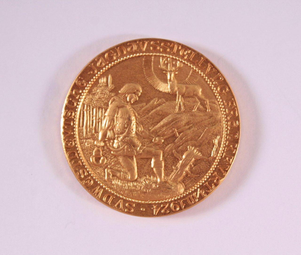 Medaille Südwestdeutsche Jagdausstellung Frankfurt a/M. 1924