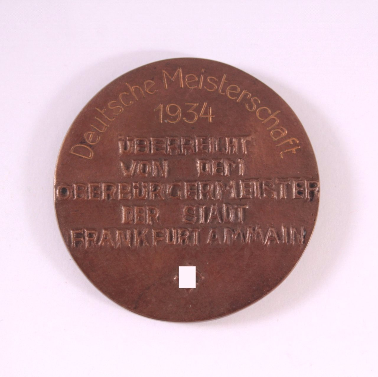 Bronze Medaille, Stark im Recht, Frankfurt 1934-1