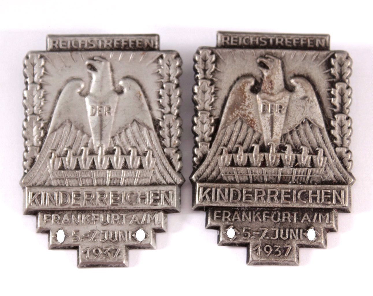 2 Abzeichen Reichstreffen der Kinderreichen 1937