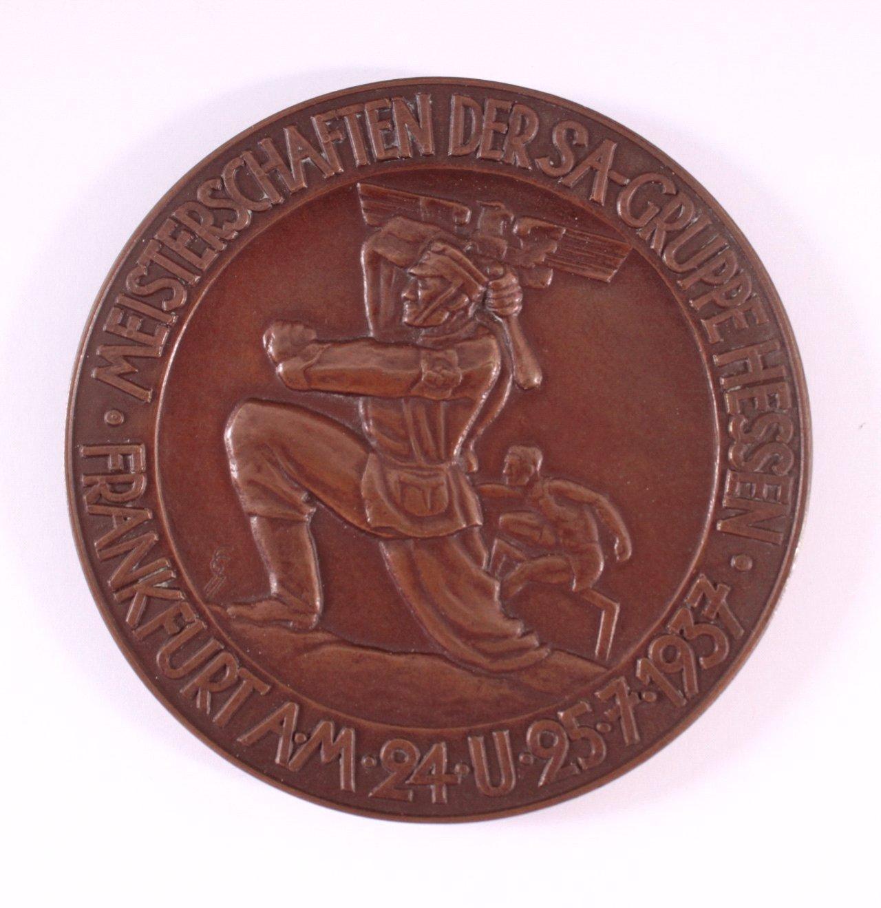 Siegermedaille Meisterschaften der SA-Gruppe Hessen 1937