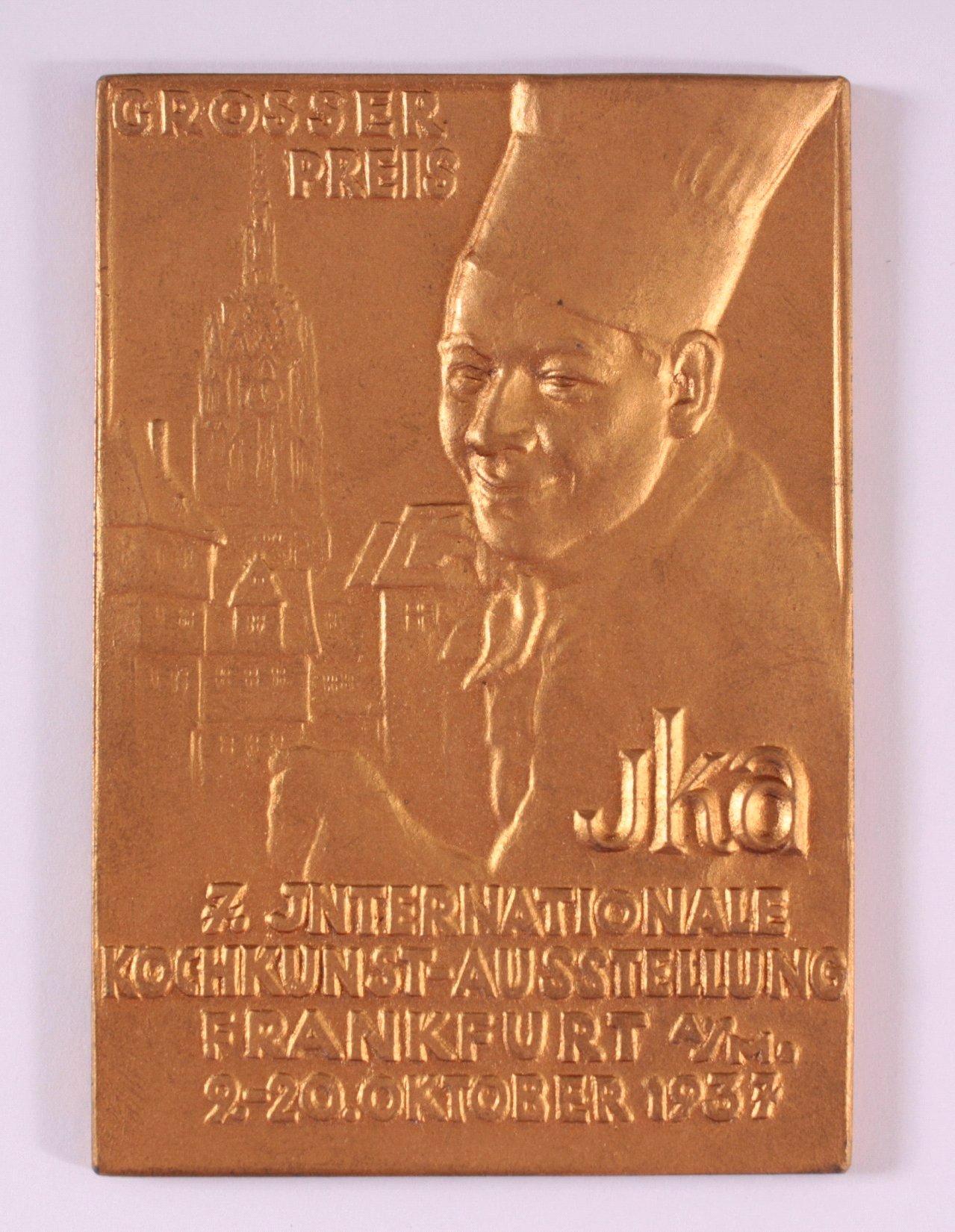 Vergoldete Plakette, Großer Preis IKA 1937