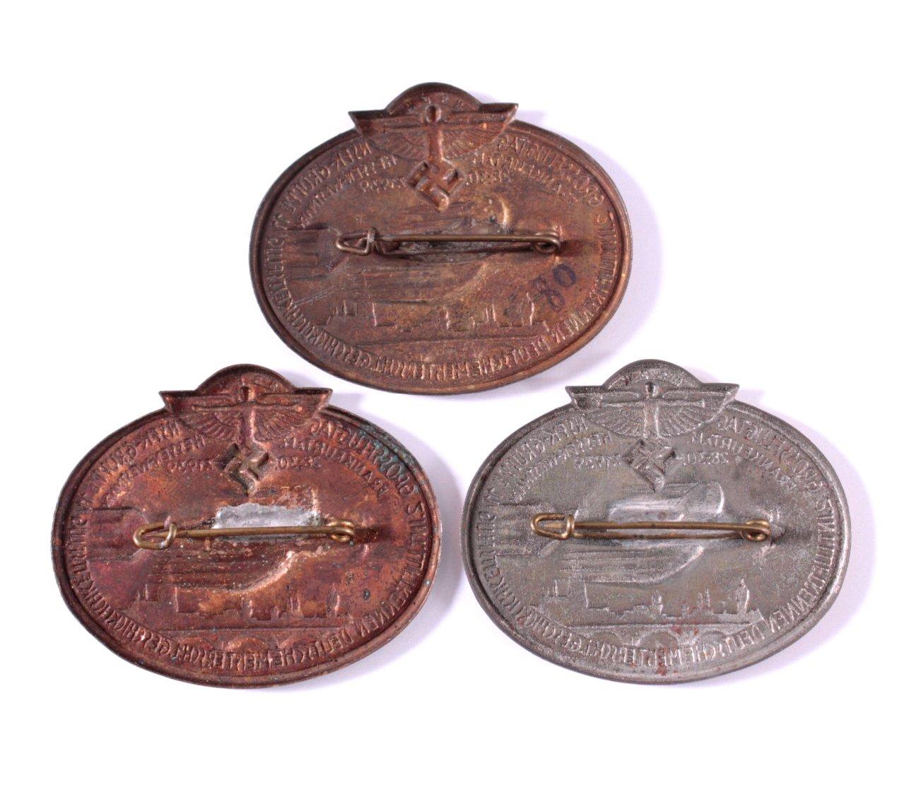 3 Abzeichen NSFK Grossflugtag Frankfurt 1939-1