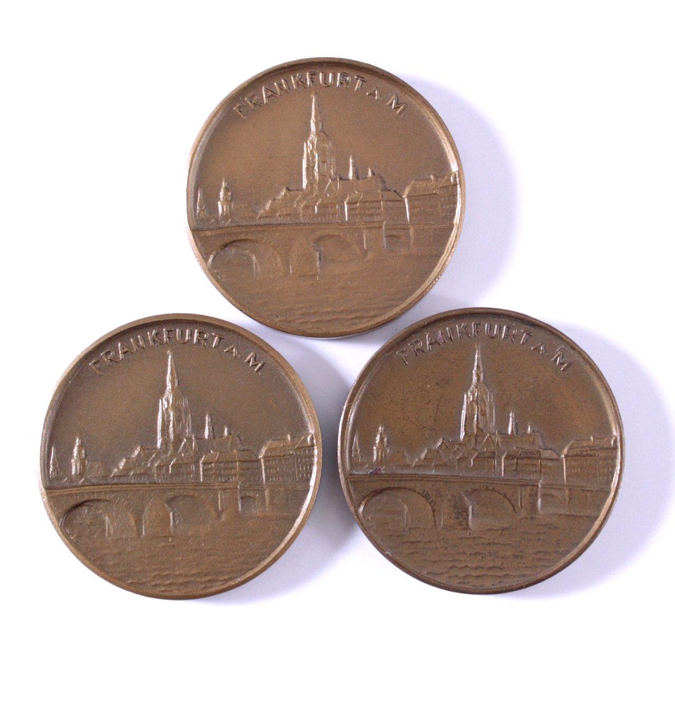 3 Medaillen Deutsche Rassehundeausstellung 1947 FFM