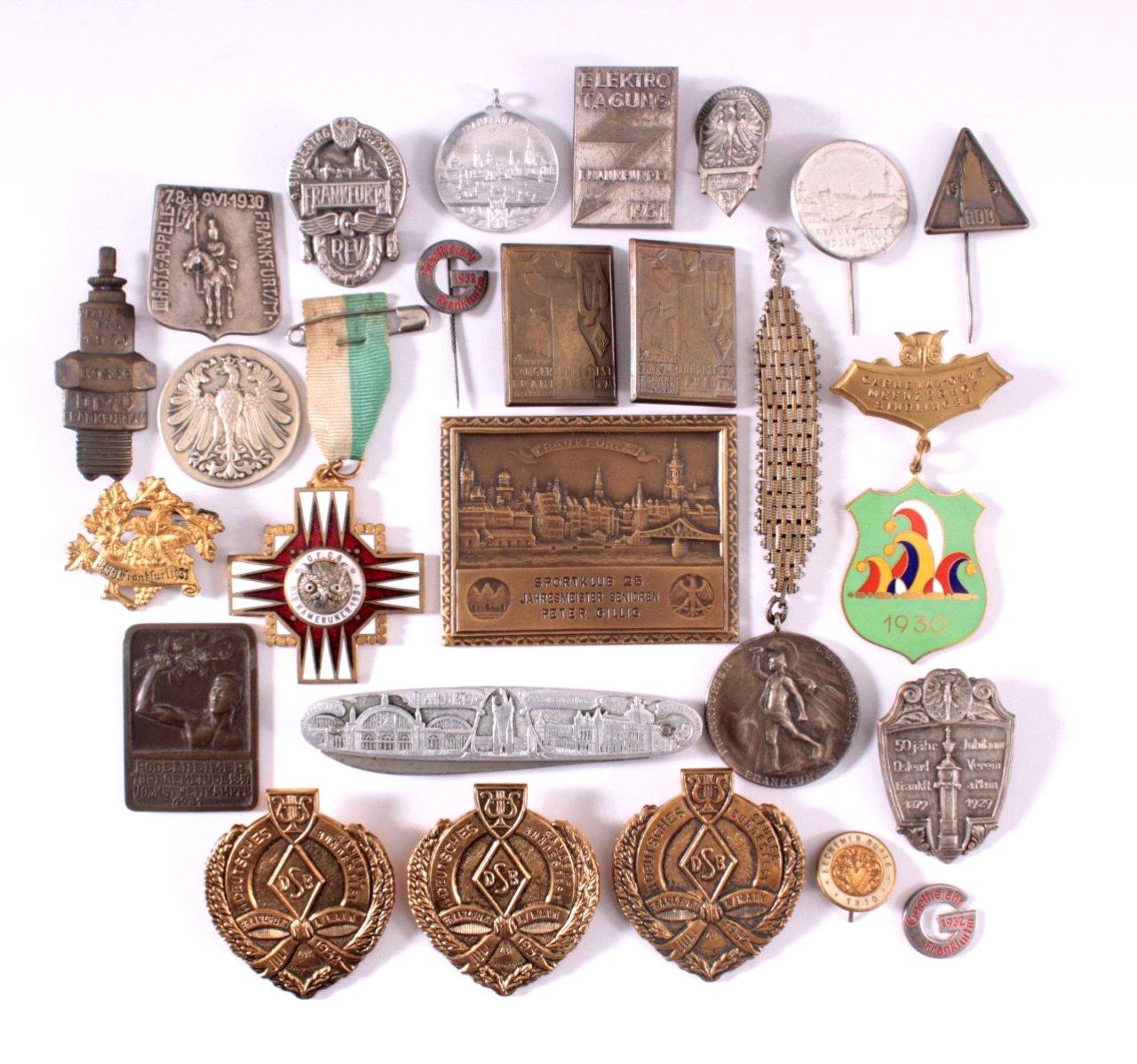 Konvolut Medaillen und Abzeichen Frankfurt