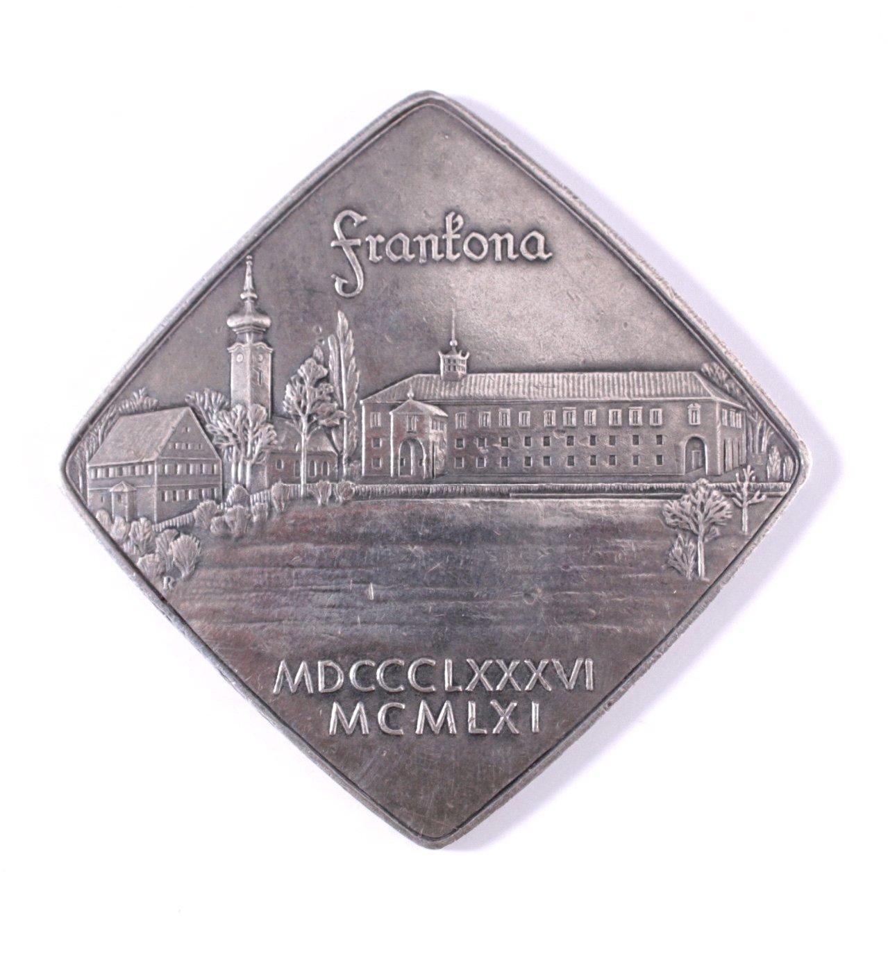 Silber Plakette Frankona